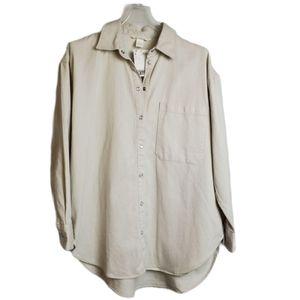 NWT H&M Pearl Snap Button Down Shirt